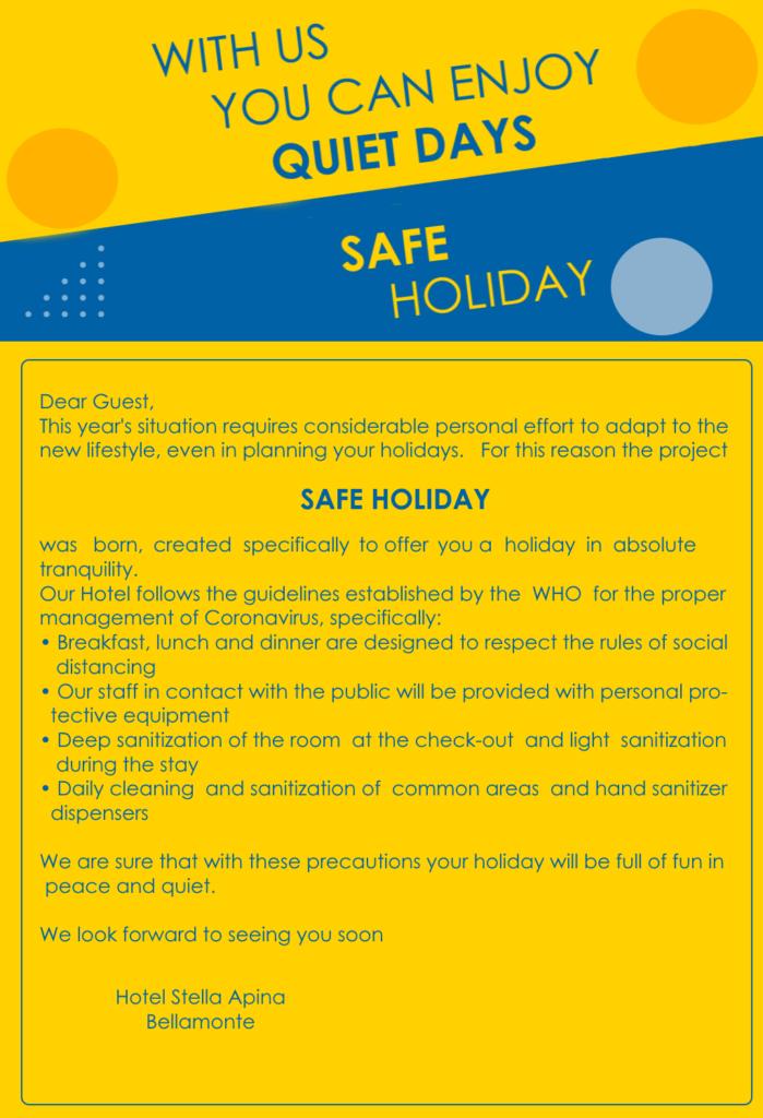 Safe Holiday Hotel Stella Alpina EN